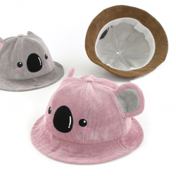 Baby hat with koala face