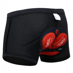 Cycling underwear with 3D & 5D gel pad