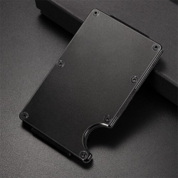 Mini credit card holder - metal wallet