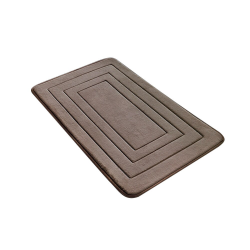 Non slip bathroom mat with memory foam