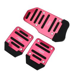 Anti-slip car foot treadle cover - aluminium 3 pieces
