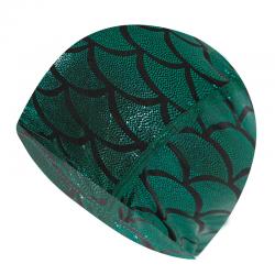 Nylon swimming cap with mermaid pattern - unisex