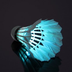 Badminton ball with LED