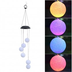 LED solar powered wind chimes light - hanging balls - lamp