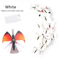Wall stickers with 3D butterflies - fridge magnets 12 pieces