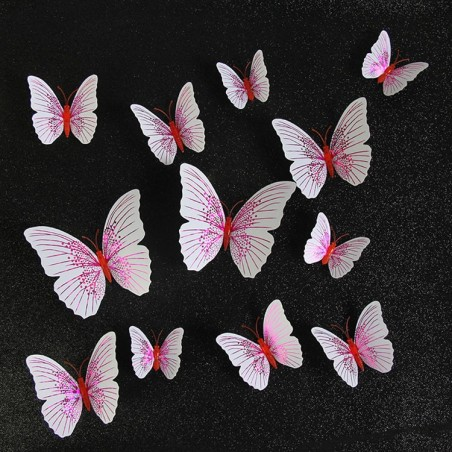3D butterfly - wall sticker with magnet 12 pieces