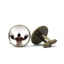Captured glass ghost - cufflinks