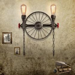 Iron wheel - retro wall lamp