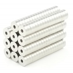 N50 neodymium ring magnets 5 * 1.5 * 1.5mm 50 pieces