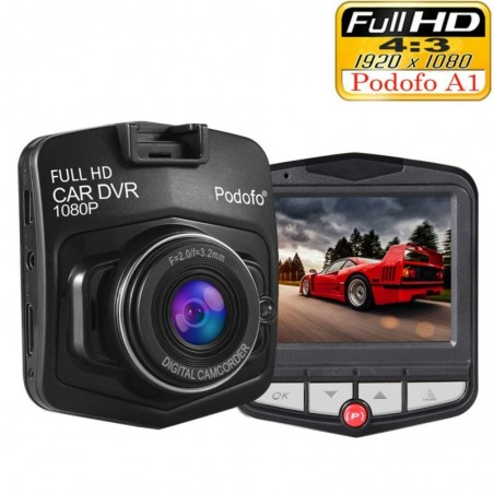 Podofo A1 mini DVR camera dashcam - full HD 1080P - video registrator recorder - G-sensor - night vision