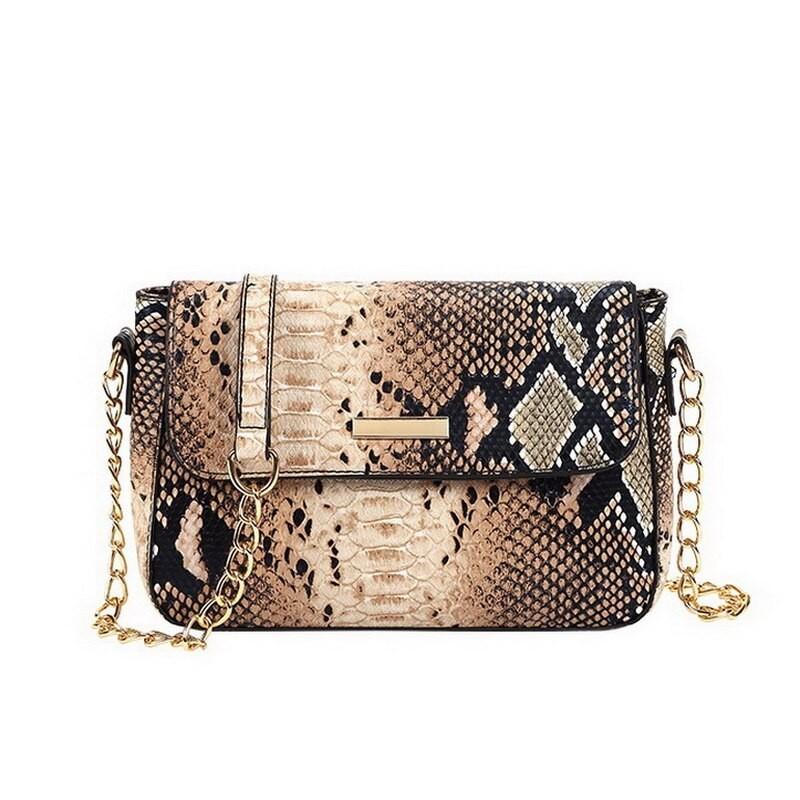 Snake skin pattern - small shoulder bag