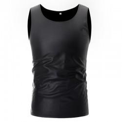 Shiny metallic t-shirt - sleeveless vest
