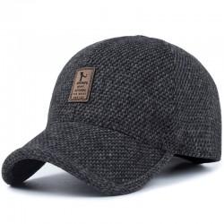 Winter baseball cap with ear flaps