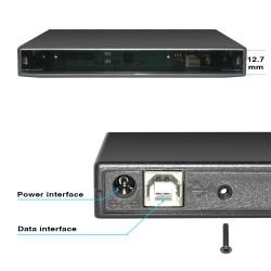 12.7mm USB 2.0 - DVD/CD-ROM case - optical disk drive SATA to SATA - external enclosure
