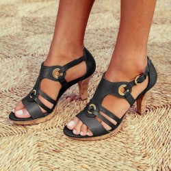 Fashionable leather gladiator sandals