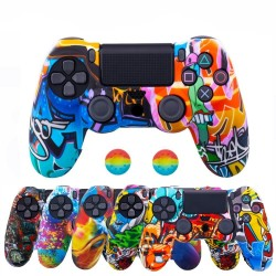 Playstation Dual Shock PS4 Pro Slim - protective skin for controller & 2 thumb stick grips caps