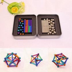 8mm neodymium magnetic balls & sticks - set