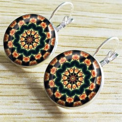 Vintage gold & silver round earrings