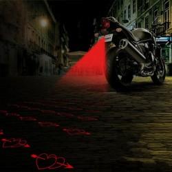 Motorcycle rear warning light - laser fog lamp with pattern