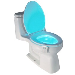 Smart PIR motion sensor - toilet seat night light - 8 colors LED - waterproof