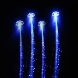 Glowing hair - hairpin with colorful luminous LED strings - 2 pieces