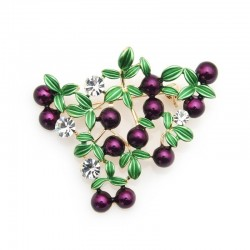 Purple cranberry - crystal brooch