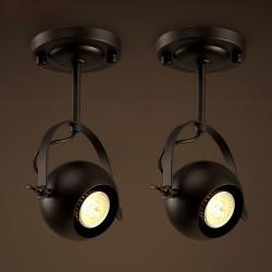E27 - retro ceiling round lamp - adjustable light